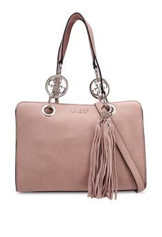 811db19417b4 Guess pink Alana Girlfriend Satchel 5B1F4AC294DD9BGS 1