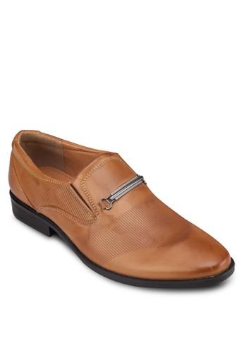 牌飾esprit 香港條紋拼接紳士皮鞋, 鞋, 鞋