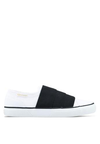 Superga black and white Cotu Slip Ons 27081SH6CAA106GS_1