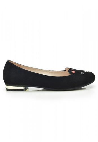 Elisa Litz black Beary Flats (Black) EL365SH79ZFCSG_1
