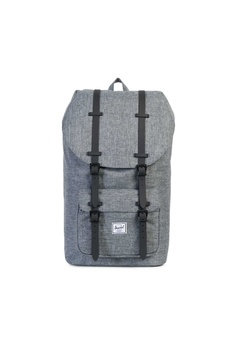 b01931effb Herschel grey Herschel Little America Backpack Raven X Black - 25L  00212AC1B2AD90GS 1
