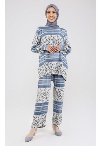ZAHRA SIGNATURE blue SET Rayon Silk Mia DA8F4AA66071B2GS_1