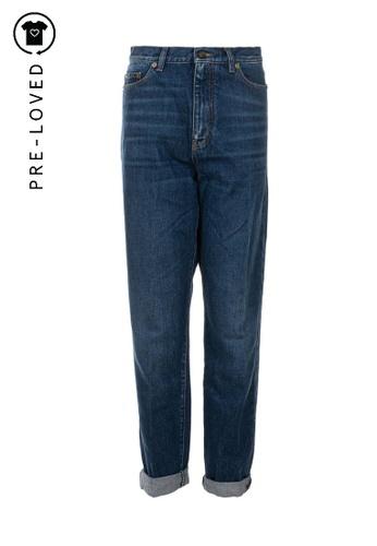 SAINT LAURENT blue Pre-Loved saint laurent High Rise Straight Cut Jeans 65823AA35C0B49GS_1