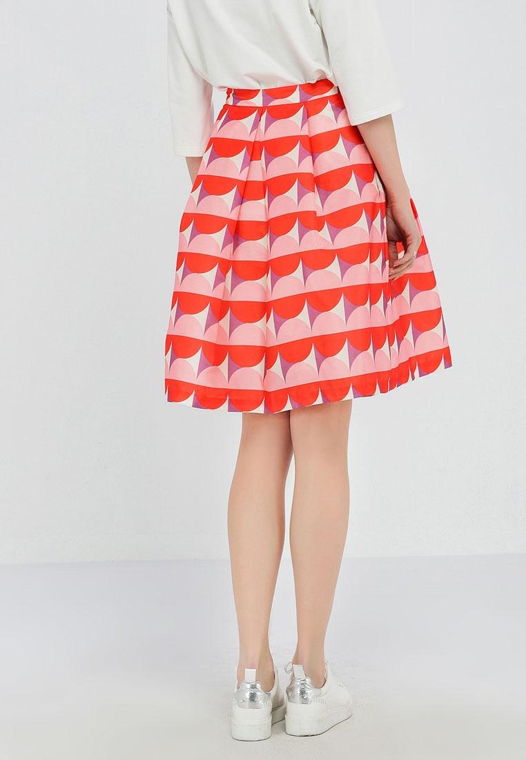 Skirt Printed floral Orange Pleated Hopeshow xESqwwUPC