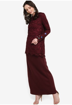 20756e534c03 29% OFF Lubna Embellished Fitted Sleeves Kurung S  99.90 NOW S  70.90  Available in several sizes