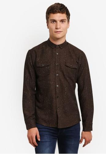 JAXON brown Speckled Shirt FD73CAA6746E6EGS_1
