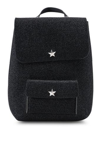 La Fille Des Fleurs black Alma Lurex Backpack DBD01AC384E3BEGS_1