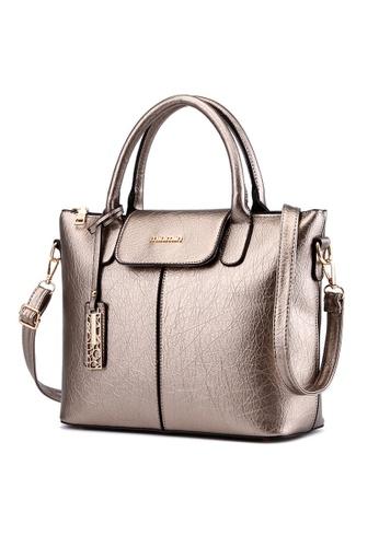 Vince gold French Designed Elegant Vegan Leather Tote ( Gold ) VI456AC68IZNMY_1