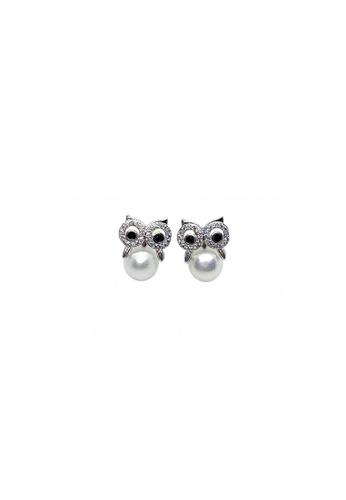 Shinju Pearls white SHINJU PEARLS-Fresh Water Pearl -Cute Owl Wisdom Earring 71970ACDD6E22EGS_1