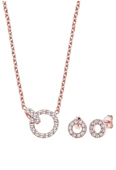 96fbe25fd22 Elli Germany pink and gold Elli Germany Jewelry Set Chain Connector Geo  Swarovski® Crystals 925