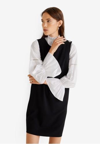 Mango black Buttoned Dress F2277AABB96B19GS_1