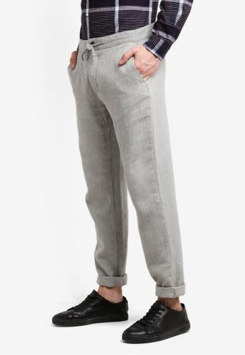 ESPRIT grey Woven Regular Pants ES374AA0RC5EMY_1
