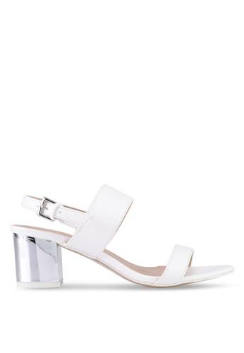 VINCCI white Strappy Heels F446ESH09E4F90GS_1