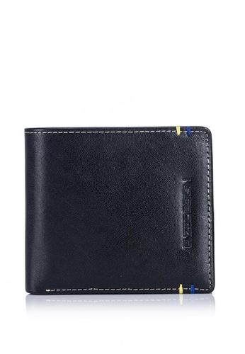 ENZODESIGN black Two Tone 14 Card Slots Italian Leather Bi-fold Wallet EN115AC0KU3YPH_1