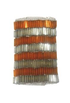 STRAP STYLERS - Orange & Silver stripes