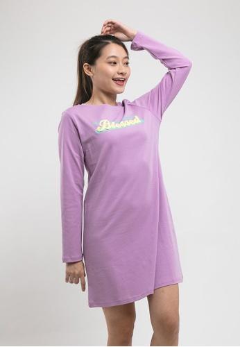 FOREST purple Forest Ladies Premium Interlock Knitted Long Sleeve Round Neck Dress - 821945 Light Purple E1684AA8B4FA50GS_1