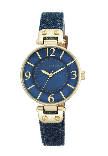 Anne Klein blue Anne Klein Ladies - Denim Fabric and Leather Straps Watch - 10-9168BMDD AN844AC0RGSFMY_1
