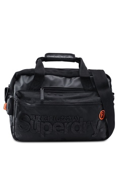 440298c20e Superdry black Freeloader Laptop Bag 691C7AC5089186GS 1