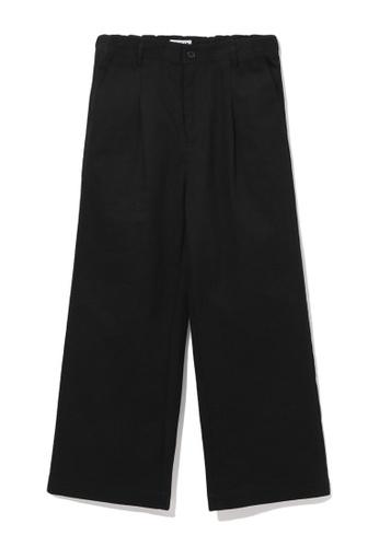 Fivecm black Wide leg chino pants 09FEAAA6F6B921GS_1