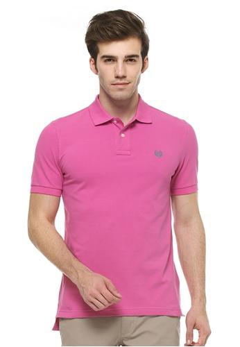 Chaps pink Chaps Stretch Mesh Polo CH325AA43EDCMY_1
