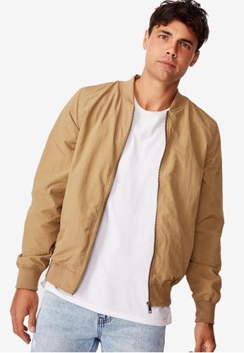 Cotton On brown Resort Bomber Jacket C3818AA8BD26C2GS_1