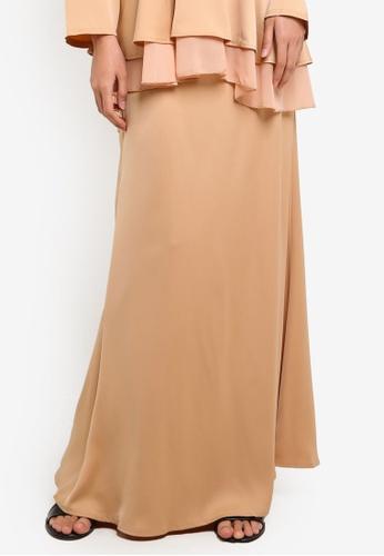 BYN beige Mermaid Style Skirt BY059AA06VLPMY_1