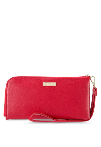 Perllini&Mel red Faux Leather Clutch Wristlet PE444AC0SBM1MY_1