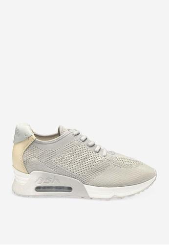 ASH 灰色 Lucky - 灰色網孔編織運動鞋 65B8FSHE593D18GS_1