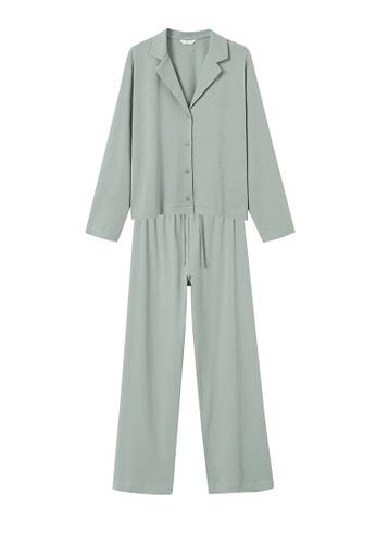 MANGO KIDS green Cotton Long Pyjamas 4CD64KA27CB57AGS_1