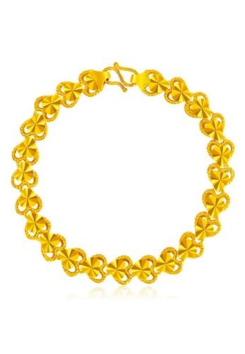 YOUNIQ gold YOUNIQ Premium Heart 24K Plated Bracelet (Gold) YO999AC28NQDMY_1