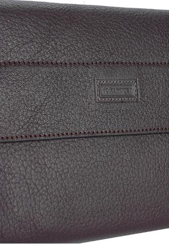 Volkswagen brown Leather Clutch VO089AC0RH4ZMY_1