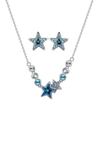 ADORA blue Swarovski Star Set AD365AC2W7QQHK_1