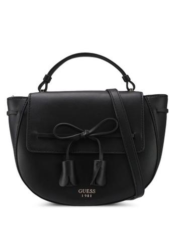 Guess black Leila Top Handle Flap Bag 527FBAC379AD5CGS_1