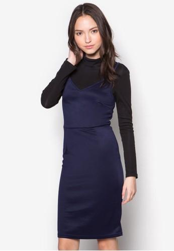 Resprit tweese 細肩帶連身裙, 服飾, 洋裝