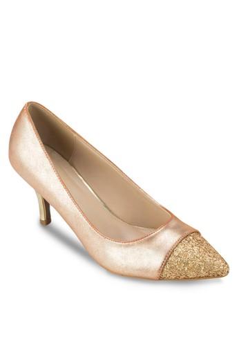 金屬感尖頭高跟鞋esprit童裝門市, 女鞋, 鞋