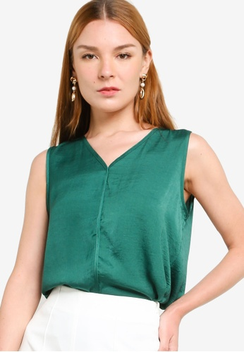ZALORA WORK green Sleeveless Shell Top 375C2AAD90A1AFGS_1