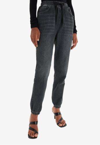 Trendyol black High Waist Jeans 8B557AA38BBA78GS_1