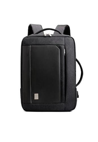 A FRENZ black Convertible Travel Briefcase Laptop Backpack D675BACFF2E10DGS_1