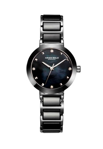Aries Gold black Aries Gold Enchant Persia Black and Silver Watch 74478AC17F5DE7GS_1