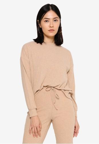 ONLY beige Zoe Long Sleeve Top 8FB1EAAB25F2CEGS_1