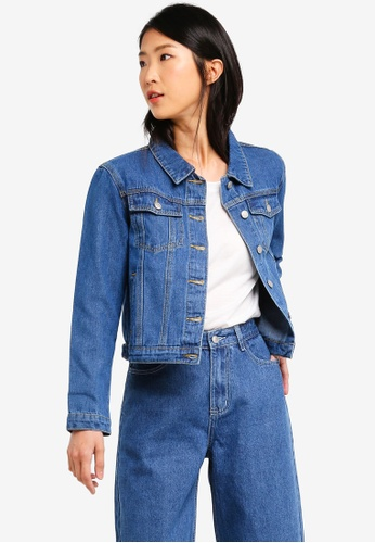 ZALORA BASICS blue Basic Classic Denim Jacket 7F8EDAA9EC0689GS_1