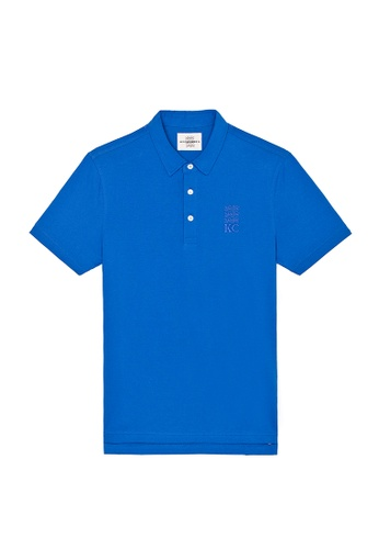 Kent and Curwen blue Blue Cotton Short Sleeves  Polo 43D54AA9819ADFGS_1
