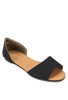 寬帶包跟平底鞋