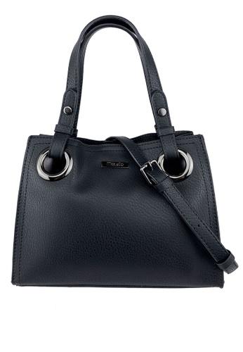 Mel&Co black Faux Leather Satchel Bag F753FACD472D80GS_1