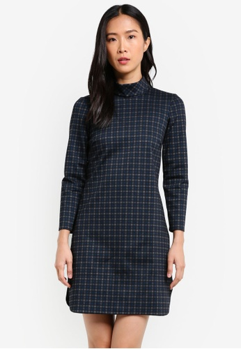 CLOSET multi A-Line 3/4 Sleeves Dress CL919AA0S6HHMY_1