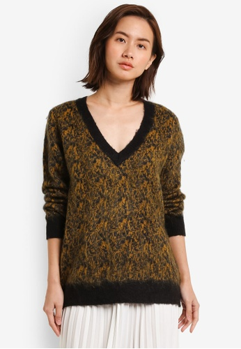 Selected Femme brown Maline Knitted Pullover SE157AA0RMCEMY_1