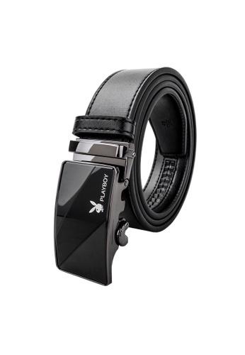 Playboy black 35mm Automatic Belt D3337AC6394784GS_1