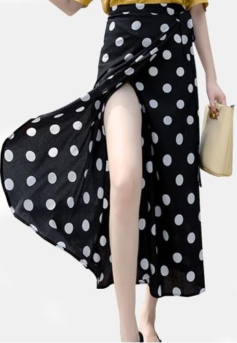 Twenty Eight Shoes black VANSA Floral One-piece Skirt VCW-Sk8.F C4920AA9F929A3GS_1