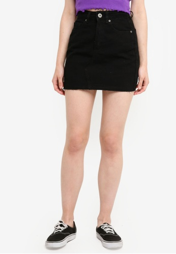 Factorie black Classic Denim Overall Dress 373F1AADAF277CGS_1