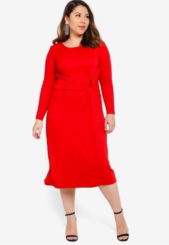Junarose red Plus Size Lola Below Knee Dress BA68FAAD75A906GS_1